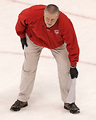 Larry Venis (BU - Assistant Director-Athletic Training Services) - The visiting Merrimack College Warriors defeated the Boston University Terriers 4-1 to complete a regular season sweep on Friday, January 27, 2017, at Agganis Arena in Boston, Massachusetts.The visiting Merrimack College Warriors defeated the Boston University Terriers 4-1 to complete a regular season sweep on Friday, January 27, 2017, at Agganis Arena in Boston, Massachusetts.