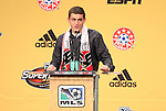 13 January 2011: DC United selected Chris Korb with the #31 overall pick. The 2011 MLS SuperDraft was held in the Ballroom at Baltimore Convention Center in Baltimore, MD during the NSCAA Annual Convention.