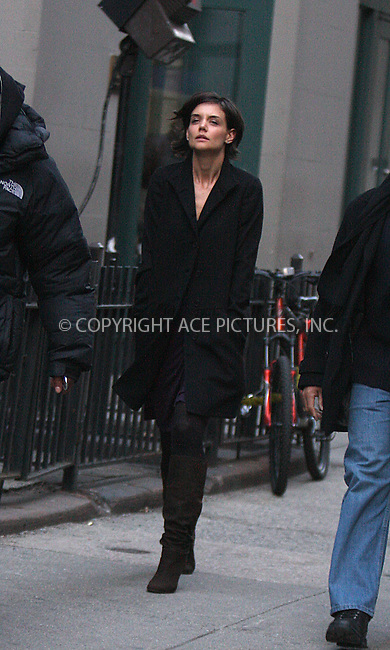 WWW.ACEPIXS.COM . . . . .  ....February 23 2009, New York City....Actress Katie Holmes was on the set of her new movie 'Extra Man' in Manhattan on February 23 2009 in New York City.....Please byline: AJ Sokalner - ACEPIXS.COM.... *** ***..Ace Pictures, Inc:  ..(212) 243-8787 or (646) 769 0430..e-mail: picturedesk@acepixs.com..web: http://www.acepixs.com