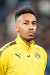 Borussia Dortmund Forward Pierre-Emerick Aubameyang getting into the field during the Europe Champions League 2017-18 match between Real Madrid and Borussia Dortmund at Santiago Bernabeu Stadium on 06 December 2017 in Madrid Spain. Photo by Diego Gonzalez / Power Sport Images