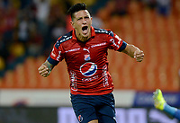 MEDELLÍN - COLOMBIA, 02-02-2018: German Cano jugador del Medellín celebra después de anotar un gol al Alianza P durante el partido entre Independiente Medellín y Atletico Huila por la fecha 1 de la Liga Águila II 2018 jugado en el estadio Atanasio Girardot de la ciudad de Medellín. / German Cano player of Medellin celebrates after scoring a goal to Alianza P during match between Independiente Medellin and Atletico Huila for the date 1 of the Aguila League II 2018 played at Atanasio Girardot stadium in Medellin city. Photo: VizzorImage/ León Monsalve / Cont