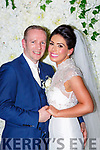 Danielle Favier, Glenflesk, daughter of Dan and Marian, and Kieran O'Halloran, Loreto Road Killarney who were married in St Agatha's church Glenflesk on Friday, Fr Radley officiated at the ceremony assisted by Fr Hayes best man was Sean O'Halloran, groomsmen were Damien Collins, Sean Brosnan, John and Mark Bowe, bridesmaids were Sinead Favier, Nicola Daly, Louise O'Connor, Linda O'Donoghue, and Jennifer McCarthy, flowergirls were Gracie Mai, Emma and Sophie Favier, pageboys were Jack, Conall and Frankie Favier, the recption was held in the Malton Hotel and the couple will reside in Kilcummin