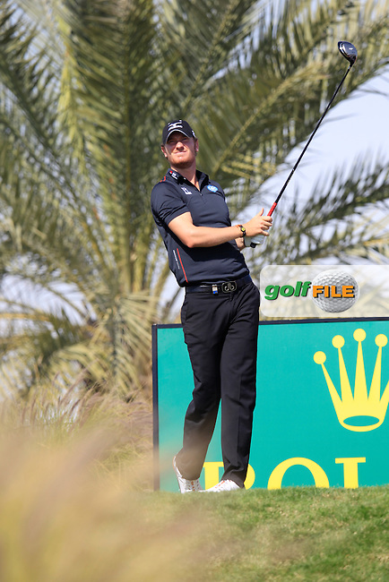 Chris Wood (ENG) tees off the 16th tee during Wednesday's Round 1 of the Commercial Bank Qatar Masters 2013 at Doha Golf Club, Doha, Qatar 23rd January 2013 .Photo Eoin Clarke/www.golffile.ie