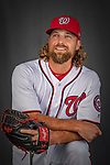 22 February 2019: Washington Nationals pitcher Trevor Rosenthal poses for his Photo Day portrait at the Ballpark of the Palm Beaches in West Palm Beach, Florida. Mandatory Credit: Ed Wolfstein Photo *** RAW (NEF) Image File Available ***