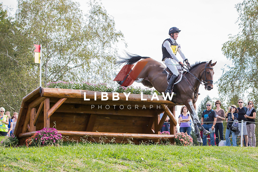 IRL-Joseph Murphy (SPORTSFIELD OTHELLO) INTERIM-4TH: CCI4* CROSS COUNTRY: 2014 FRA-Les Etoiles de Pau (Saturday 25 October) CREDIT: Libby Law COPYRIGHT: LIBBY LAW PHOTOGRAPHY - NZL