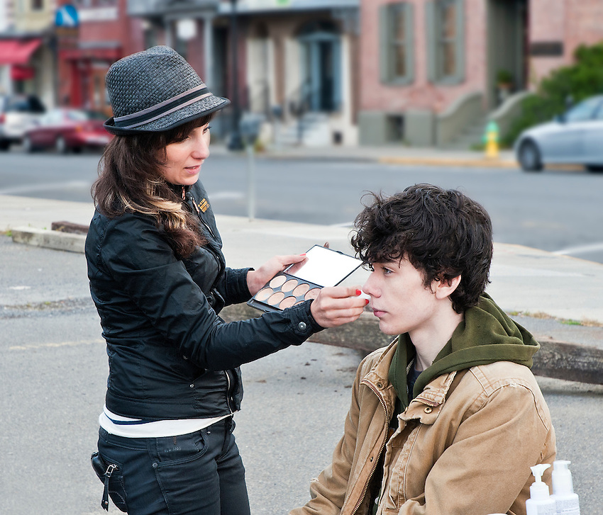 Candice Crawford prepared Ian for the first day of shooting.
