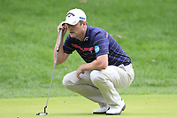 Marc Warren (SCO) on the 1st green during Sunday's storm delayed Final Round 3 of the Andalucia Valderrama Masters 2018 hosted by the Sergio Foundation, held at Real Golf de Valderrama, Sotogrande, San Roque, Spain. 21st October 2018.<br /> Picture: Eoin Clarke | Golffile<br /> <br /> <br /> All photos usage must carry mandatory copyright credit (&copy; Golffile | Eoin Clarke)