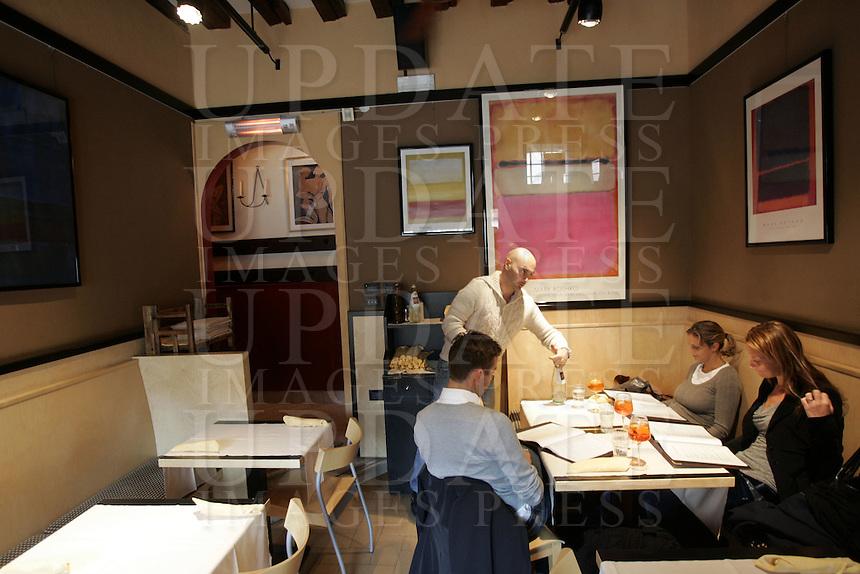 L'interno della pizzeria Il Refolo, a Venezia.<br /> Interior of the pizzeria il Refolo, in Venice.<br /> UPDATE IMAGES PRESS/Riccardo De Luca