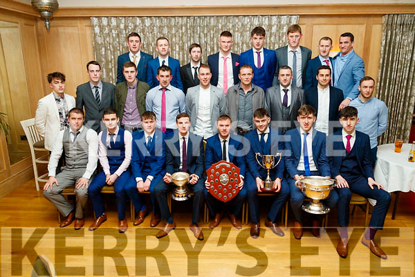 The Cordal Team who won Division 5A of the County League, pictured at the Cordal Social at Ballygarry House Hotel and Spa, Tralee, on Saturday night last.