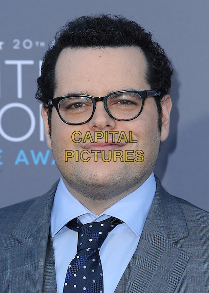 LOS ANGELES, CA - JANUARY 15:  Josh Gad at the 20th Annual Critics' Choice Movie Awards at the Hollywood Palladium on January 15, 2015 in Los Angeles, California.  <br /> CAP/MPI/PGSK<br /> &copy;PGSK/MediaPunch/Capital Pictures