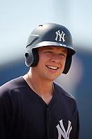 New York Yankees Josh Breaux (20) during a Florida Instructional League game against the Philadelphia Phillies on October 11, 2018 at Yankee Complex in Tampa, Florida.  (Mike Janes/Four Seam Images)