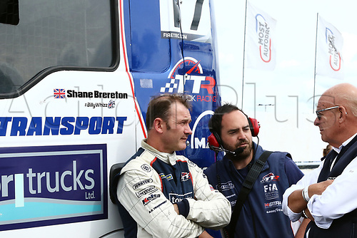 3rd September 2017, Most Racing Track, Most, Czech Republic; FIA European Truck Racing Championship; 3rd race, in the left Shane BRERETON (GB/MAN/Team Brereton),<br />