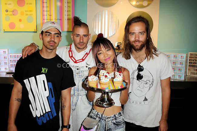 WWW.ACEPIXS.COM<br /> <br /> June 11 2016, Miami<br /> <br /> JinJoo Lee, Cole Whittle, Jack Lawless, Joe Jonas of DNCE attend Y-100's Radio Station cup cake and toothbrush party at LA Sweets on June 11, 2016 in Miami, Florida.<br /> <br /> By Line: Solar/ACE Pictures<br /> <br /> <br /> ACE Pictures, Inc.<br /> tel: 646 769 0430<br /> Email: info@acepixs.com<br /> www.acepixs.com