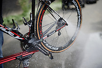 washing the bikes post-race<br /> <br /> Heistse Pijl 2016