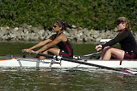 REDWOOD SHORES, CA - APRIL 14:  The Stanford Cardinal team during Stanford's regatta against the California Golden Bears on April 14, 2001 in Redwood Shores, California.
