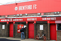 General view of the Braemar Road turnstile entrance at Brentford FC during Brentford vs Wigan Athletic, Sky Bet EFL Championship Football at Griffin Park on 15th September 2018