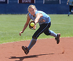 Centennial's shortstop Heather Bowen makes a play against Reed High School during the NIAA 4A softball championship tournament in Reno, Nev. on Thursday, May 16, 2012. Reed won 5-4. .Photo by Cathleen Allison