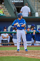 Jimmy Titus (40) of the Ogden Raptors at bat against the Grand Junction Rockies at Lindquist Field on July 23, 2019 in Ogden, Utah. The Raptors defeated the Rockies 11-4. (Stephen Smith/Four Seam Images)