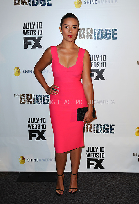 WWW.ACEPIXS.COM<br /> <br /> July 8 2013, LA<br /> <br /> Catalina Sandino Moreno arriving at the series premiere of FX's 'The Bridge' at DGA Theater on July 8, 2013 in Los Angeles, California. <br /> <br /> By Line: Peter West/ACE Pictures<br /> <br /> <br /> ACE Pictures, Inc.<br /> tel: 646 769 0430<br /> Email: info@acepixs.com<br /> www.acepixs.com