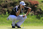 Justin Rose eyeing up his putt ont he 5th.during round three of the BMW PGA championship 2010 at Wentworth golf club, Surrey England..Picture Fran Caffrey/Newsfile.ie