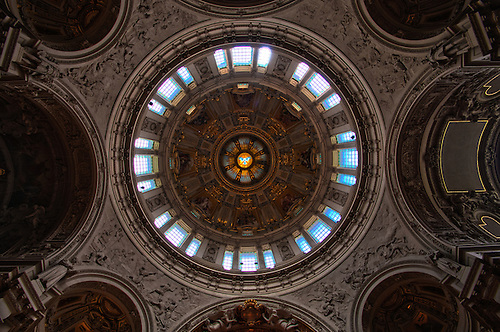 Inside the Berliner Dom. This place was still a ruin in the late 80's. It has been restored beautifully.