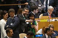 Nova York (EUA), 24/09/2019 - Assembléia Geral / ONU - Ernesto Araujo durante abertura da 74ª Assembleia Geral da Organização das Nações Unidas (ONU)  em Nova York nos Estados Unidos nesta terça-feira, 24.  (Foto: William Volcov/Brazil Photo Press/Agencia O Globo) Mundo