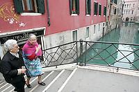 Uno scorcio del sestiere di Castello.<br /> A bridge on a canal at the sestiere of Castello, Venice.<br /> UPDATE IMAGES PRESS/Riccardo De Luca