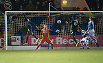 St Johnstone v Celtic.....19.02.13      SPL.Efe Ambrose heads in to make it 1-0.Picture by Graeme Hart..Copyright Perthshire Picture Agency.Tel: 01738 623350  Mobile: 07990 594431