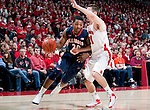 Wisconsin Badgers guard Josh Gasser (21) defends against Illinois Fighting Illini guard Myke Henry (20) during a Big Ten Conference NCAA college basketball game on Sunday, March 4, 2012 in Madison, Wisconsin. The Badgers won 70-56. (Photo by David Stluka)