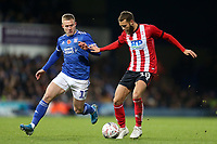 Jorge Grant of Lincoln City and Danny Rowe of Ipswich Town during Ipswich Town vs Lincoln City, Emirates FA Cup Football at Portman Road on 9th November 2019