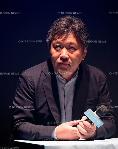 Hirokazu Koreeda, July 30, 2018 : Japanese director Hirokazu Koreeda attends a press conference to promote his drama 'Shoplifters' at a theatre in Seoul, South Korea. Koreeda won the top Palme D'Or at the 71st Cannes Film Festival in May, 2018 for his work 'Shoplifters'. (Photo by Lee Jae-Won/AFLO) (SOUTH KOREA)
