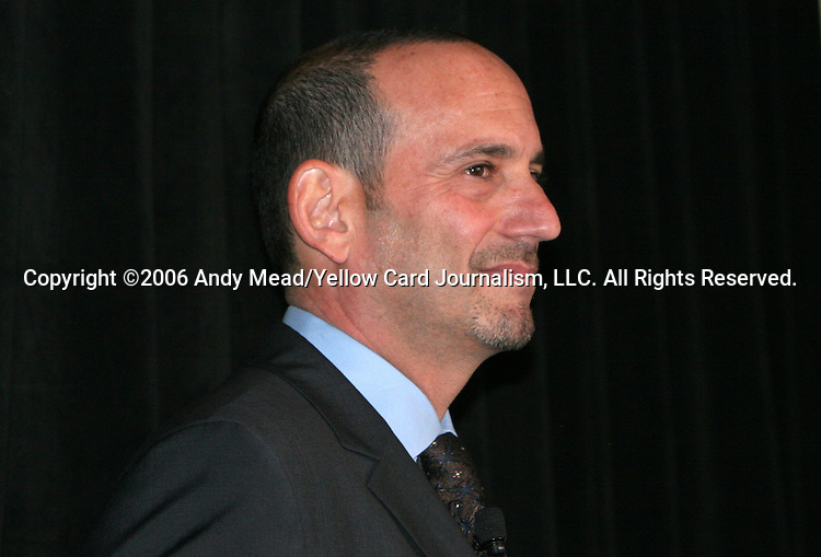 10 November 2006: MLS Commissioner Don Garber waits offstage. The annual Major League Soccer Commissioner's Press Conference and Media Luncheon were held in the Verizon Club at Pizza Hut Park in Frisco, Texas.