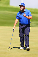 Andrew beefy Johnston at the 18th green during the BMW PGA Golf Championship at Wentworth Golf Course, Wentworth Drive, Virginia Water, England on 26 May 2017. Photo by Steve McCarthy/PRiME Media Images.