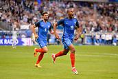 June 13th 2017, Stade de France, Paris, France; International football friendly, France versus England;  19 Djibril Sidibe (fra) celebrates his goal