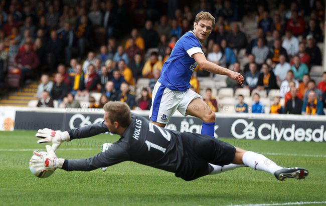 Lee Hollis saves from Nikica Jelavic