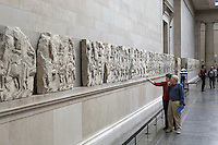 Great Britain, England, London: Parthenon room in the British Museum displaying marble sculptures removed from the Parthenon in Athens in the 19th century by Lord Elgin