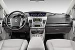 Stock photo of straight dashboard view of 2014 Ssangyong Rodius Sapphire 5 Door Minivan Dashboard