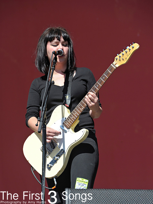 "Lindsay ""Coco"" Hames of The Ettes performs during Day 1 of the Orlando Calling music festival at Citrus Bowl Park in Orlando, Florida on November 12, 2011."