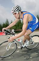 09 JUN 2007 - TREDEGAR, UK - Carl Shaw - National Elite Triathlon Championships and Corus Elite Triathlon Series Rd 2. (PHOTO (C) NIGEL FARROW)