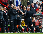 Chris Wilder manager of Sheffield Utd is sent to the stands by the referee Scott Duncan during the Championship match at Bramall Lane Stadium, Sheffield. Picture date 16th September 2017. Picture credit should read: Simon Bellis/Sportimage