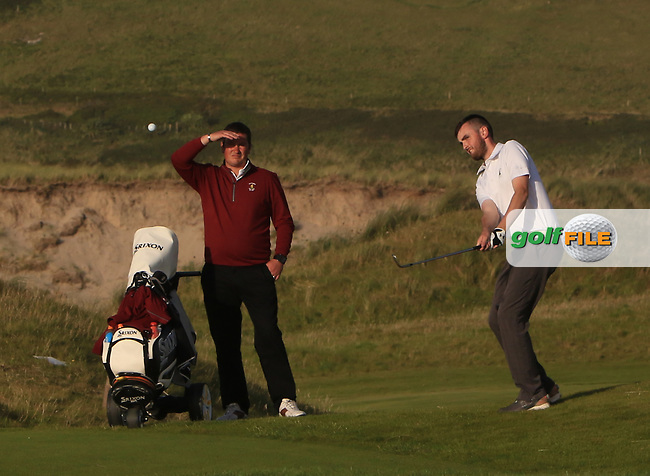 Senan Carroll (Ballybunion) on the 15th during the Munster Final of the AIG Senior Cup at Tralee Golf Club, Tralee, Co Kerry. 12/08/2017<br /> <br /> Picture: Golffile | Thos Caffrey<br /> <br /> All photo usage must carry mandatory copyright credit     (&copy; Golffile | Thos Caffrey)