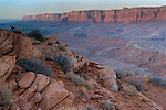 Sunrise from the top of Spencer Trail, with view of Vermillion Cliffs. Lees Ferry, AZ