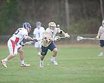 Ole MIss' Sean Kennan (16) vs. Georgia Tech's Chris Tynan (1) in lacrosse at the Ole Miss Intramural Fields in Oxford, Miss. on Saturday, February 2, 2013. Georgia Tech won 8-5.