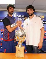 5.06.2012 Barcelona. Rueda de prensa de presentacion playoff final liga ACB. Sergio Llull y Juan Carlos Navarro