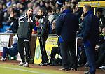 Kilmarnock v St Johnstone....15.01.11  .Derek McInnes explains to Mixu Paatelainen about Eremenko's dive.Picture by Graeme Hart..Copyright Perthshire Picture Agency.Tel: 01738 623350  Mobile: 07990 594431