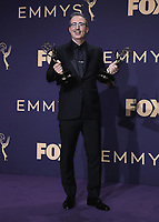 LOS ANGELES - SEPTEMBER 22:  John Oliver  with the award for Outstanding Variety Talk Series at the 71st Primetime Emmy Awards at the Microsoft Theatre on September 22, 2019 in Los Angeles, California. (Photo by Xavier Collin/Fox/PictureGroup)