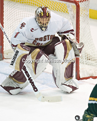 Cory Schneider - The Boston College Eagles completed a shutout sweep of the University of Vermont Catamounts on Saturday, January 21, 2006 by defeating Vermont 3-0 at Conte Forum in Chestnut Hill, MA.