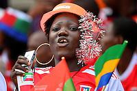 Tifosi Guinea <br /> Bata ( Guinea Equatoriale ) 17-01-2015 <br /> Coppa d'Africa 2015 <br /> Football Calcio 2014/2015 <br /> Repubblica Democratica del Congo - Costa d'Avorio 1-3 <br /> Foto Boubacar / Panoramic / Insidefoto
