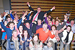 Michael Cahill celebrates with his family and supportersl in the Killlarney on Saturday night