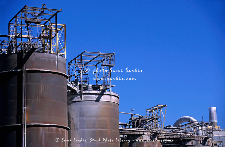 Bauxite refinery tanks, Gardanne France.
